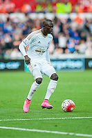 Bodu Barrow of Swansea in action during the Barclays Premier League match between Swansea City and Everton played at the Liberty Stadium, Swansea  on September 19th 2015