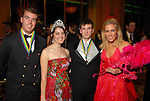 Patrick Shelton, Mardi Gras Queen Madeline Shelton, Sam Phillips and Megan Mullane at the San Luis Mardi Gras Ball in Galveston Friday Feb. 01,2008.(Dave Rossman/For the Chronicle)