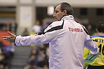 12.01.2013 Granollers, Spain. IHF men's world championship, prelimanary round. Picture show Alain Portes  in action during game between France vs Tunisia at Palau d'esports de Granollers