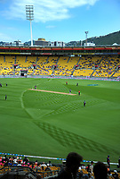 A general view of the One Day International between the New Zealand Black Caps and England at the Westpac Stadium in Wellington, New Zealand on Friday, 2 March 2018. Photo: Dave Lintott / lintottphoto.co.nz