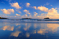 Pacific Ocean reflection<br /> Pacific Rim National Park<br /> British Columbia<br /> Canada