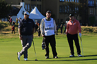 Shane Lowry (IRL) and Gerry McManus (AM) on the 17th green during Round 3 of the Alfred Dunhill Links Championship 2019 at St. Andrews Golf CLub, Fife, Scotland. 28/09/2019.<br /> Picture Thos Caffrey / Golffile.ie<br /> <br /> All photo usage must carry mandatory copyright credit (© Golffile | Thos Caffrey)
