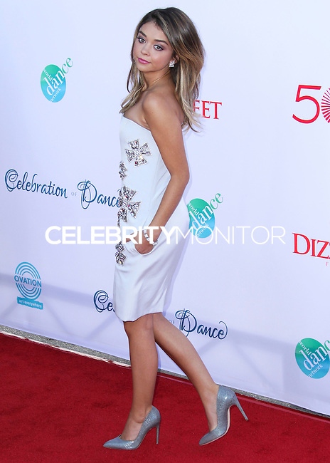 LOS ANGELES, CA, USA - JULY 19: Actress Sarah Hyland arrives at the 4th Annual Celebration Of Dance Gala Presented By The Dizzy Feet Foundation held at the Dorothy Chandler Pavilion at The Music Center on July 19, 2014 in Los Angeles, California, United States. (Photo by Xavier Collin/Celebrity Monitor)