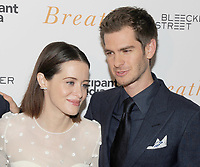 NEW YORK, NY - OCTOBER 09: Actors Claire Foy and Andrew Garfield attend the 'Breathe' New York special screening at AMC Loews Lincoln Square 13 theater on October 9, 2017 in New York City.  <br /> CAP/MPI/JP<br /> &copy;JP/MPI/Capital Pictures