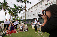Malaysia, Penang. E&O - the Eastern & Oriental Hotel. Wedding ceremony..