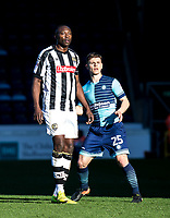 Shola Ameobi of Notts County during the Sky Bet League 2 match between Wycombe Wanderers and Notts County at Adams Park, High Wycombe, England on the 25th March 2017. Photo by Liam McAvoy.