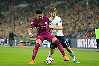 Kyle Walker of Manchester City and Ben Davies of Tottenham Hotspur during Tottenham Hotspur vs Manchester City, Premier League Football at Wembley Stadium on 14th April 2018