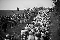 peloton up the Gulperberg<br /> <br /> Amstel Gold Race 2014