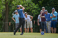 Patrick Cantlay (USA) watches his tee shot on 14 during Round 3 of the Zurich Classic of New Orl, TPC Louisiana, Avondale, Louisiana, USA. 4/28/2018.<br /> Picture: Golffile | Ken Murray<br /> <br /> <br /> All photo usage must carry mandatory copyright credit (&copy; Golffile | Ken Murray)