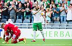 Stockholm 2014-07-28 Fotboll Superettan Hammarby IF - Assyriska FF :  <br /> Hammarbys Kennedy Bakircioglu gestikulerar till Assyriskas supportrar i samband med att ha gjort 1-0 till Hammarby<br /> (Foto: Kenta J&ouml;nsson) Nyckelord:  Superettan Tele2 Arena Hammarby HIF Bajen Assyriska AFF jubel gl&auml;dje lycka glad happy