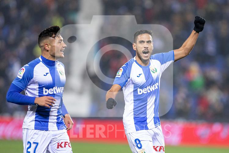 CD Leganes's  Oscar Rodriguez Arnaiz (L) and Jose Luis Garcia Recio during La Liga match 2019/2020 round 16<br /> December 8, 2019. <br /> (ALTERPHOTOS/David Jar)