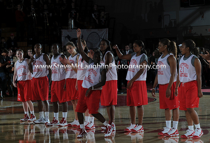 Basketball season kicked off again at the University of Hartford Friday night as both the men's and women's teams were introduced to the rowdy crowd.