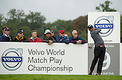 15.10.2014. The London Golf Club, Ash, England. The Volvo World Match Play Golf Championship.  Day 1 group stage matches.  Pablo Larrazabal [ESP] on the ninth tee.