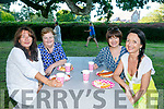 Enjoying the Kerry Medieval Group's Bbq In The Park Fundraiser on saturday were Margaret O'Connell, Triona Houlihan, Joan Holand, Marie O'Sullivan