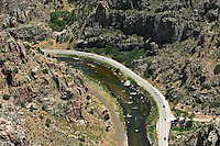 Highway 50 bends along Arkansas River