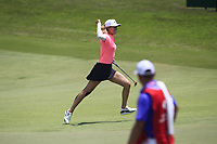 Michelle Wie (USA) makes her putt on the 18th to give her the Championship during Round 4 of the HSBC Women's World Championship 2018 at Sentosa Golf Club on the Sunday 4th March 2018.<br /> Picture:  Thos Caffrey / www.golffile.ie<br /> <br /> All photo usage must carry mandatory copyright credit (&copy; Golffile | Thos Caffrey)