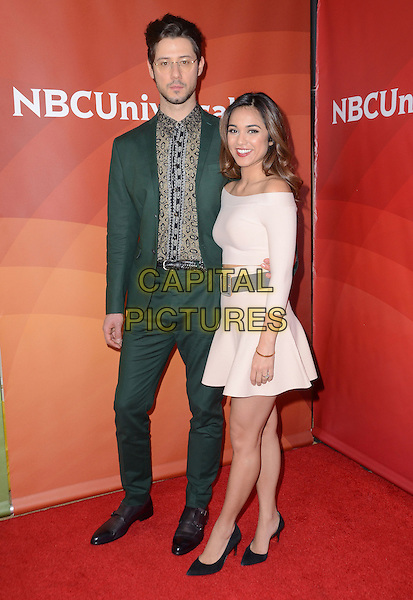 14 January  - Pasadena, Ca - Hale Appleman, Summer Bishil. NBC Universal Press Tour Day 2 held at The Langham Huntington Hotel.  <br /> CAP/ADM/BT<br /> &copy;BT/ADM/Capital Pictures