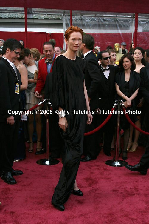 Tilda Swinton.80th Academy Awards ( Oscars).Kodak Theater.Los Angeles, CA.February 24, 2008.©2008 Kathy Hutchins / Hutchins Photo.