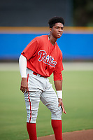 Philadelphia Phillies Malvin Matos (39) during an Instructional League game against the Toronto Blue Jays on October 7, 2017 at the Englebert Complex in Dunedin, Florida.  (Mike Janes/Four Seam Images)