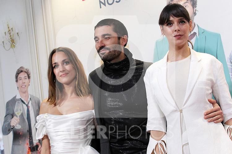 Silvia Alonso, Alex Garcia and Belen Cuesta attend Hasta que la Boda Nos Separe Premiere on Frebary 10, 2020 in Madrid, Spain.(ALTERPHOTOS/ItahisaHernandez)