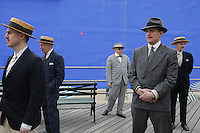 "NEW YORK - APRIL 13: The cast and crew of the new HBO series ""Boardwalk Empire"" shoot an episode on their Atlantic City Boardwalk set on Tuesday, April 13, 2010, in Brooklyn, New York.  The drama series, conceived by Terence Winter, an Emmy Award winning writer of The Sopranos, and Academy Award winning director Martin Scorcese, is set in Atlantic City during the dawn of prohibition, when the sale of alcohol became illegal throughout the United States. (Photo by Landon Nordeman)"