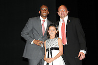 DC United defender Rodney Wallace receiving the Coaches Award from DC United Head Coach Tom Soehn.   At the 6th Annual DC United Awards Presentation ,at the Atlas Performing Arts Center in Washington DC ,Wednesday October 27, 2009.
