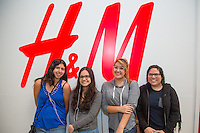Sharon Hernandez, Candy Hernandez, Melissa Roa, and Samantha Cano attend H&M Store Opening at The Shops at Montebello on September 15, 2016 (Photo by Tony Ducret/Guest Of A Guest)