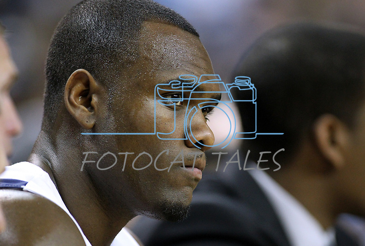 Nevada's Malik Story watches an NCAA men's basketball game against Idaho, in Reno, Nev., on Saturday, Feb. 4, 2012..Photo by Cathleen Allison