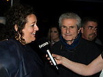 """©www.agencepeps.be - 28032014 - Avant première du film """"Salaud on t'aime"""" à Bruxelles et Braine-l'Alleud en présence de Johnny Halliday et de Claude Lelouch ainsi qu'Isabelle de Hertogh."""