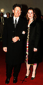 """Lyle Lovett and April Kimble arrive at the Kennedy Center in Washington for the presentation of the """"Mark Twain Prize"""" for comedy to Jonathan Winters on October 20, 1999..Credit: Ron Sachs / CNP"""