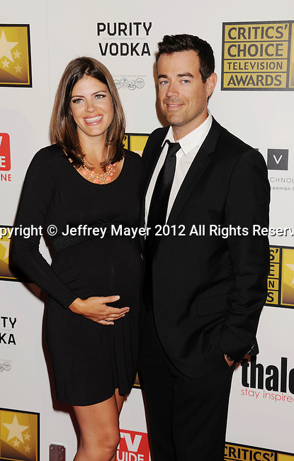 BEVERLY HILLS, CA - JUNE 18: Siri Pinter and Carson Daly arrive at The Critics' Choice Television Awards at The Beverly Hilton Hotel on June 18, 2012 in Beverly Hills, California.