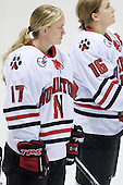 Ginny Berg (NU - 17), Julia Marty (NU - 16) -  - The Northeastern University Huskies defeated the Union College Dutchwomen 4-1 on Saturday, October 3, 2009, at Matthews Arena in Boston, Massachusetts.