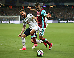 West Ham's Manuel Lanzini tussles with Tottenham's Kyle Walker during the Premier League match at the London Stadium, London. Picture date: May 5th, 2017. Pic credit should read: David Klein/Sportimage