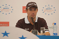 July 4th, 2006. Smurfit Kappa European Open 2006, Straffan, Kildare..Padraig Harrington gives a press conference at the above..Photo: BARRY CRONIN/Newsfile..(Photo credit should read BARRY CRONIN/NEWSFILE).