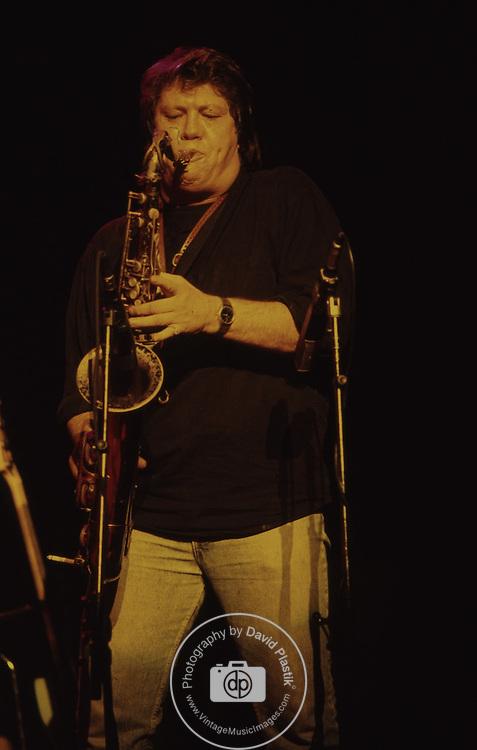 Bobby Keys , saxophone for Rolling Stones. 1987<br /> Photo by David Plastik