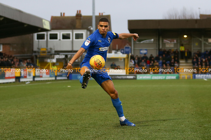 Tennai Watson of AFC Wimbledon during AFC Wimbledon vs Burton Albion, Sky Bet EFL League 1 Football at the Cherry Red Records Stadium on 9th February 2019