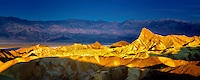 First light on Zabriske Point. Death Valley National Park, California
