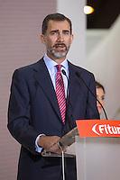 King Felipe VI of Spain attends tourism fair FITUR in Madrid, Spain. Month XX, 2015. (ALTERPHOTOS/Victor Blanco) /nortephoto.com<br /> nortephoto.com