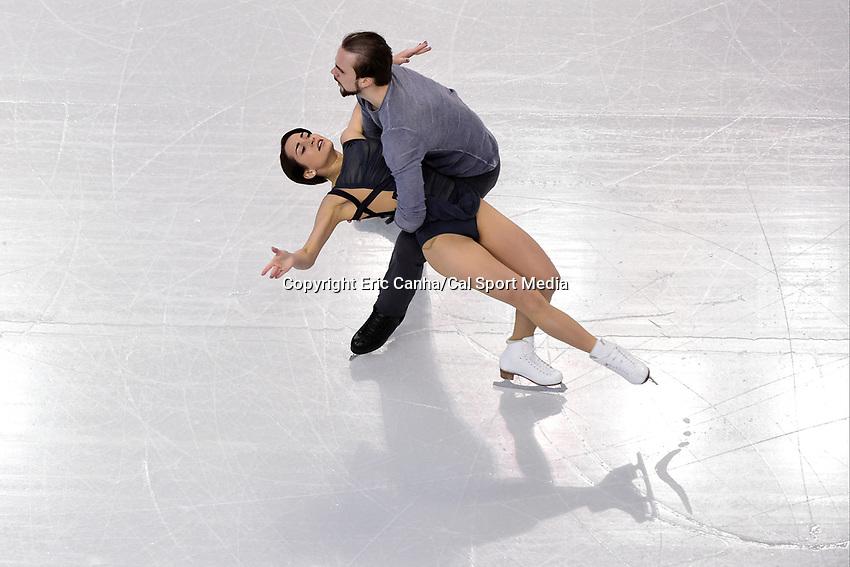 Saturday, April 2, 2016: Ksenia Stolbova and Fedor Klimov (RUS) skate in the Pairs Free Skate Program at the International Skating Union World Championship held at TD Garden, in Boston, Massachusetts. Eric Canha/CSM