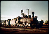 3/4 view of D&amp;RGW #464 possibly at Durango.<br /> D&amp;RGW  Durango ?, CO
