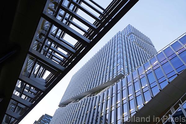 Nederland Amsterdam 2018. Kantoren op de Zuidas. Rechts de Vinoly toren.  Foto Berlinda van Dam / Hollandse Hoogte