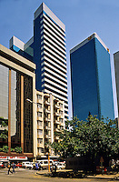 South Africa. Johannesburg. City centre/center streets and Sun Hotel..