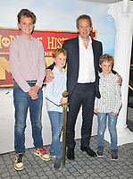 "Alexander Armstrong with his sons at the ""Horrible Histories: The Movie - Rotten Romans"" world film premiere, Odeon Luxe Leicester Square, Leicester Square, London, England, UK, on Sunday 07th July 2019.<br /> CAP/CAN<br /> ©CAN/Capital Pictures"