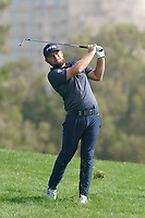 Tyrrell Hatton (ENG) in action during the third round of the Omega Dubai Desert Classic, Emirates Golf Club, Dubai, UAE. 26/01/2019<br /> Picture: Golffile | Phil Inglis<br /> <br /> <br /> All photo usage must carry mandatory copyright credit (© Golffile | Phil Inglis)