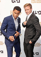 Michael Ealy and Warren Kole attend USA Network's 2012 Upfront Event at Lincoln Center's Alice Tully Hsll in New York, 17.05.2012.  Credit: Rolf Mueller/face to face /MediaPunch Inc. ***FOR USA ONLY***