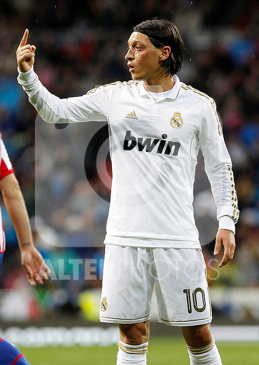 Real Madrid's Mesut Ozil during La Liga match.April 14,2012. (ALTERPHOTOS/Acero)