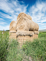 Hay bales on Highway 50 near Gunnison, Colorado, Thursday, July 9, 2015.<br /> <br /> Photo by Matt Nager