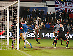 Nicky Clark heads in Jon Daly's header for the second goal