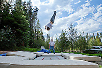 Patrick Deneen is shown at his family's ranch in Cle Elum, Wash. Wednesday, Sept. 2, 2009. If he makes the U.S. Olympic team for 2010, Deneen will be among the state of Washington athletes competing at a Winter Games in his backyard. Deneen is the 2009 world champion in moguls who is shooting for his first Olympics. The Cle Elum native has been on skis since he was 11 months old. Deneen was also a competitive horseback rider but gave it up to focus on skiing. (Photo by Andy Rogers/Red Box Pictures)