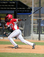 Carlos Rincon participates in the Dominican Prospect League 2014 Louisville Slugger Tournament at the New York Yankees academy in Boca Chica, Dominican Republic on January 20-21, 2014 (Bill Mitchell)